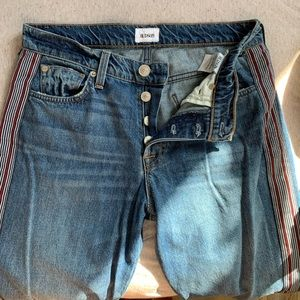 Hudson Jeans with red stripe on side seam